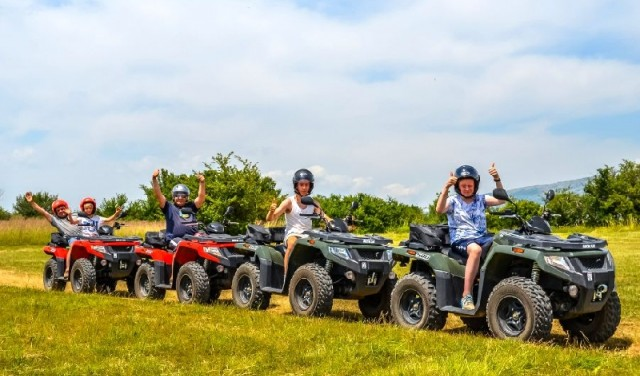 Quad safari river Cetina - family tour