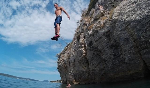 Rock climbing from the sea DWS - Split