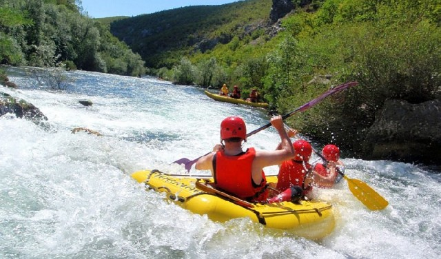RAFTING ON CETINA RIVER  -  ZADVARJE