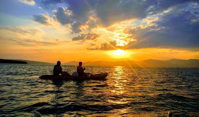 Sunset sea kayaking in Split