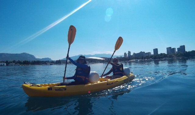 Kayak on the sea - Split