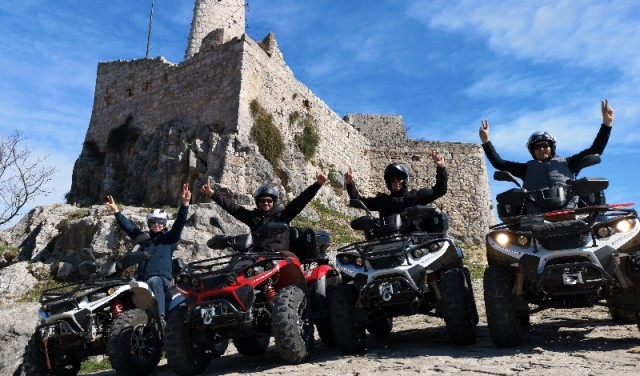 Panoramic quad adventure Klis-Kucine near Split