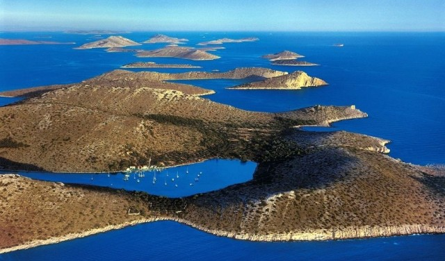 Panoramic flight of Kornati islands