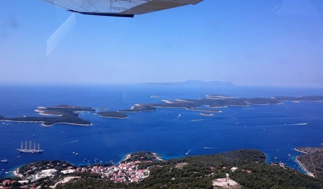 PANORAMIC FLIGHT OVER BRAČ, HVAR AND PAKLENI ISLANDS from Brač