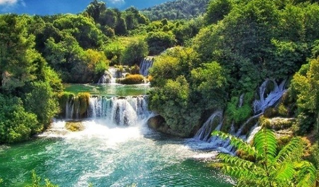 Krka waterfalls day tour by boat from Split / Trogir